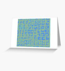 Modern Blue and Green Square Print iPhone 6 Case Greeting Card