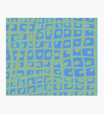Modern Blue and Green Square Print iPhone 6 Case Photographic Print
