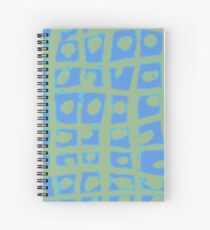 Modern Blue and Green Square Print iPhone 6 Case Spiral Notebook