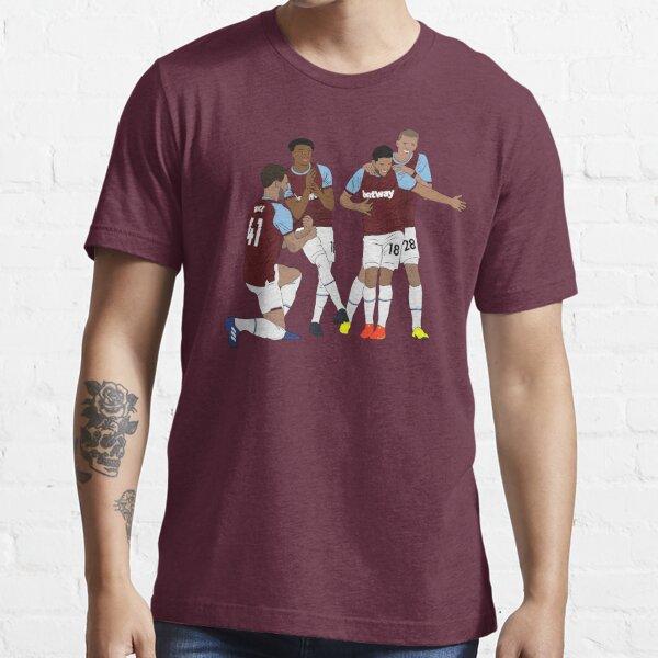 West Ham Jesse Lingard Declan Rice Pablo Fornals Tomáš Souček Célébration des buts T-shirt essentiel