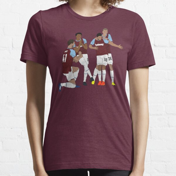 West Ham Jesse Lingard Declan Rice Pablo Fornals Tomáš Souček Goal Celebration  Essential T-Shirt