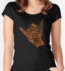 Shaka Sign Hang Loose Women's Fitted Scoop T-Shirt