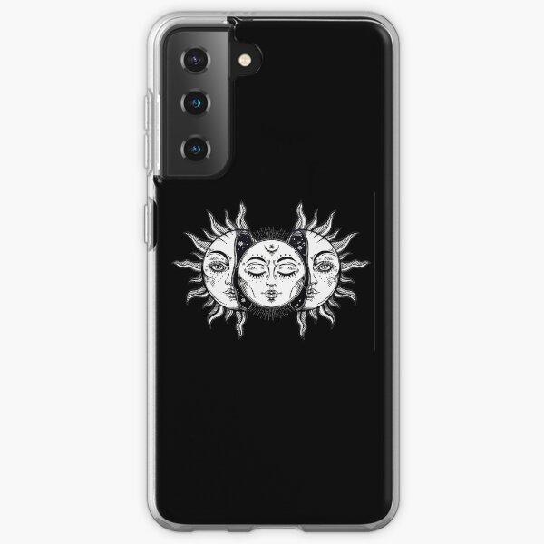 Vintage Solar Eclipse Sun and Moon Samsung Galaxy Soft Case