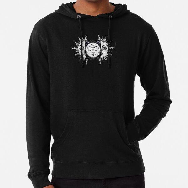 Vintage Solar Eclipse Sun and Moon Lightweight Hoodie