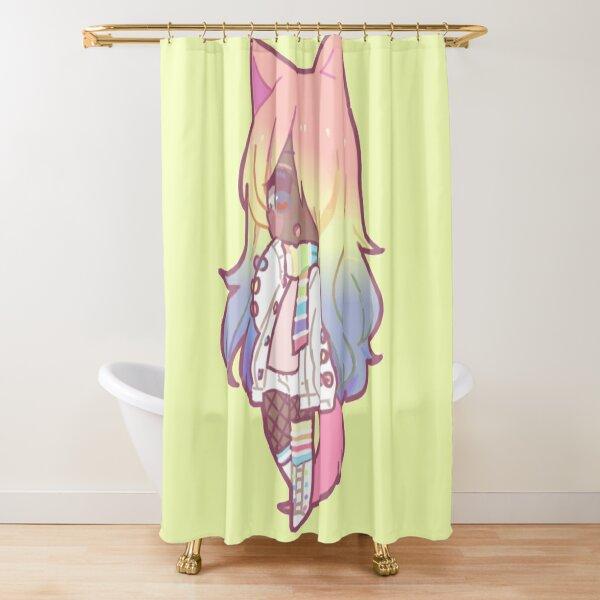 Rainbow Girl Shower Curtain