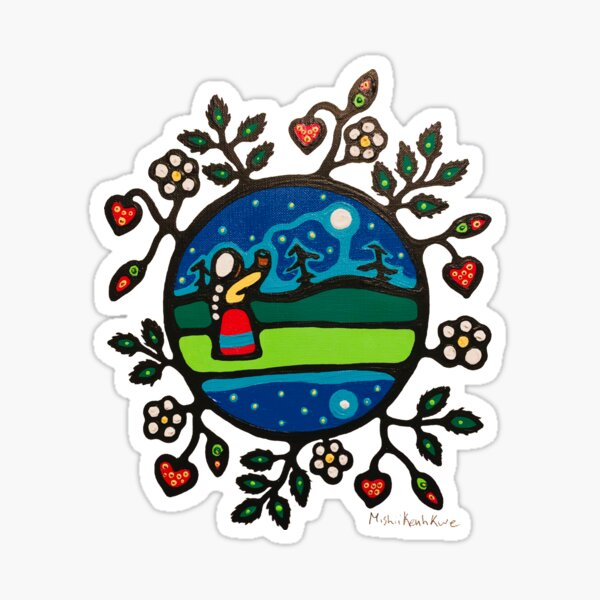 water and berries Sticker