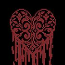 Bleeding Tiled Heart by tastypaper