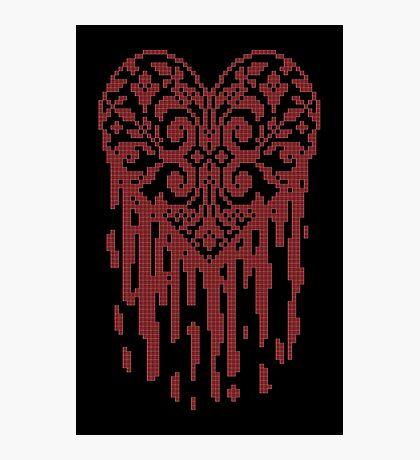 Bleeding Tiled Heart Photographic Print