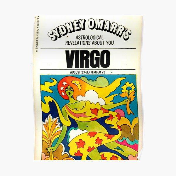 virgo vintage poster Poster