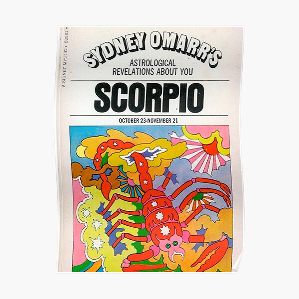 scorpio vintage poster Poster