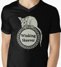 The Winking Skeever Men's V-Neck T-Shirt