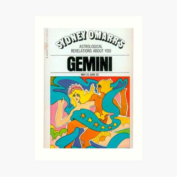 gemini vintage poster Art Print