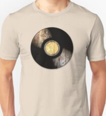 Vintage Vinyl Record Rust Texture - RETRO MUSIC DJ! Unisex T-Shirt