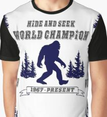 Hide and Seek World Champion Bigfoot Graphic T-Shirt