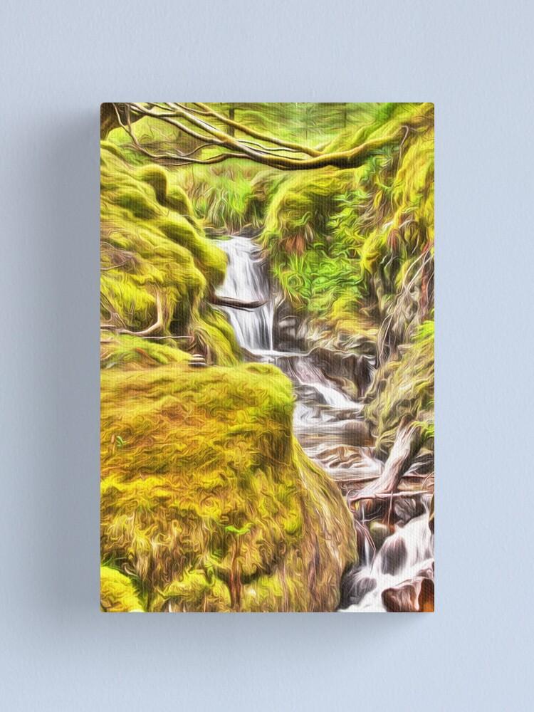 Alternate view of Dreamy Pucks Glen Waterfall Canvas Print