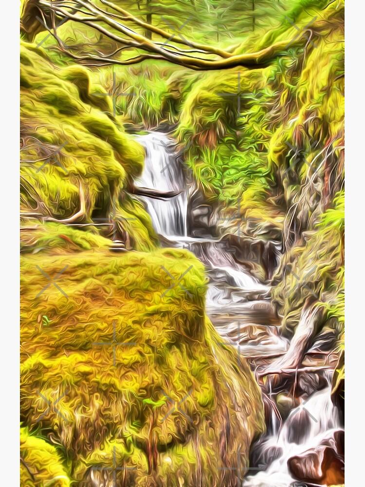 Dreamy Pucks Glen Waterfall by Focal-Art