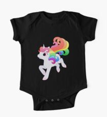 Cute Baby Rainbow Unicorn One Piece - Short Sleeve