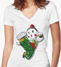 Camiseta entallada de cuello en V Chiaotzu Bape