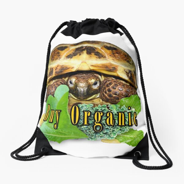 Tortoise - Buy Organic Drawstring Bag