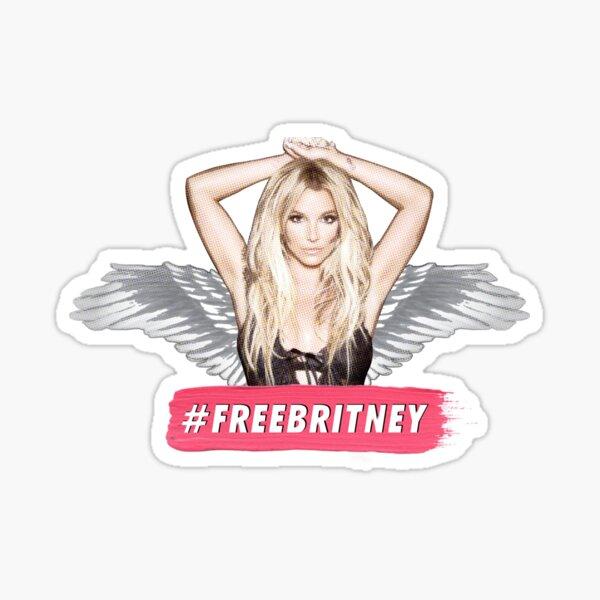 FREE BRITNEY face conservatorship shirt sticker  Sticker