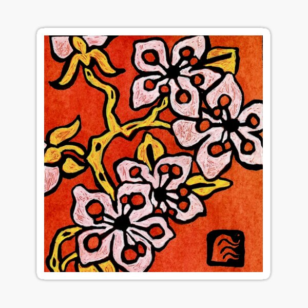 blossom detail Sticker
