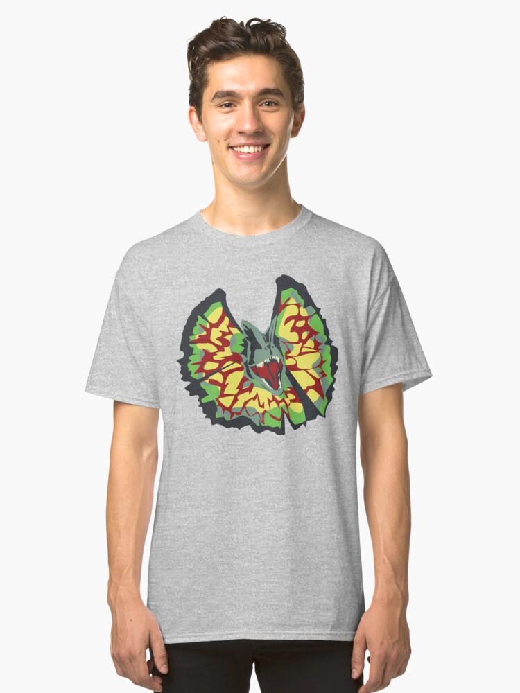 Alternate view of dilophosaurus Classic T-Shirt