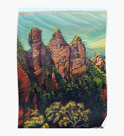 Three Sisters, Blue Mountains Poster