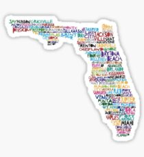 Florida Cities Design Sticker