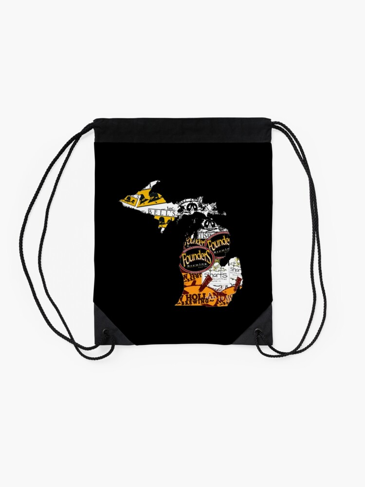 Alternate view of beer Drawstring Bag