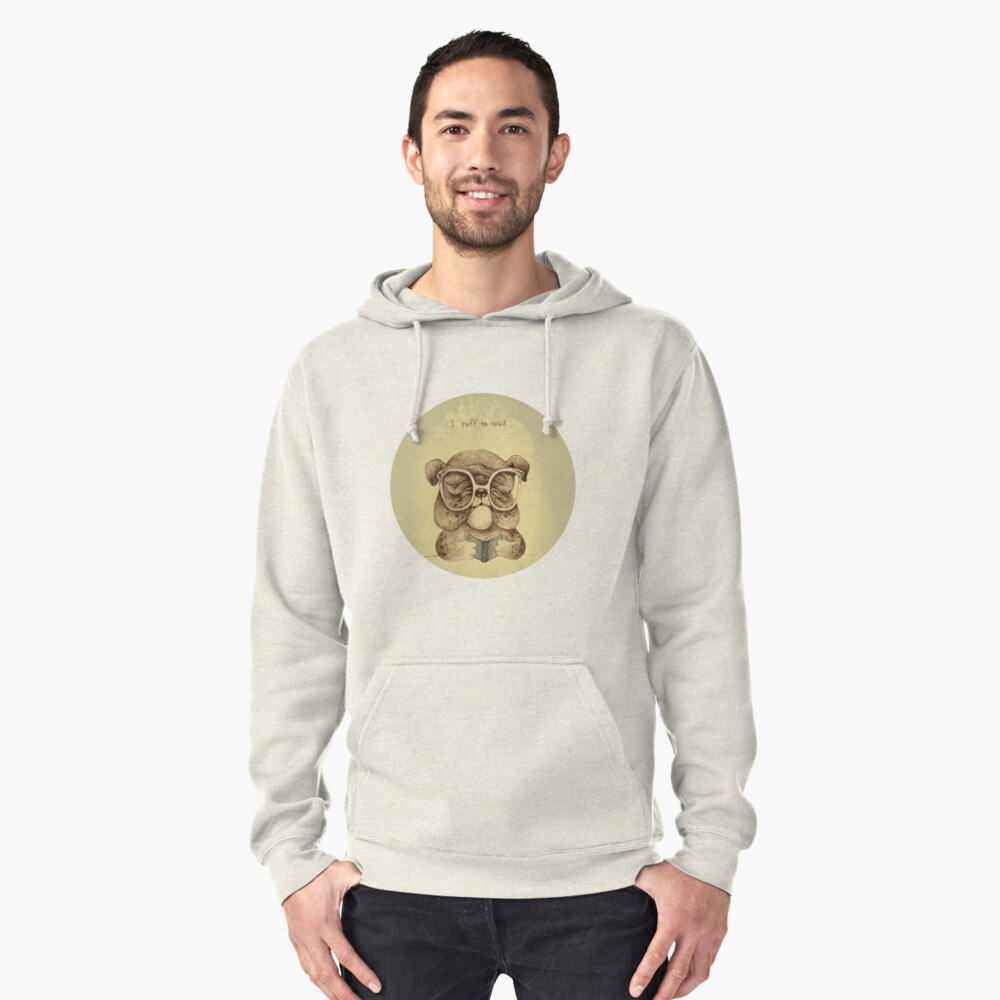 I Ruff to Read Pullover Hoodie Front