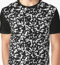 Black and White Marble Composition Notebook Graphic T-Shirt