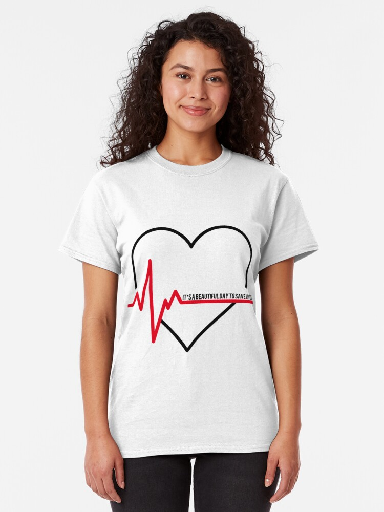 I Love Hearts McDreamy Ladies Fitted T-Shirt
