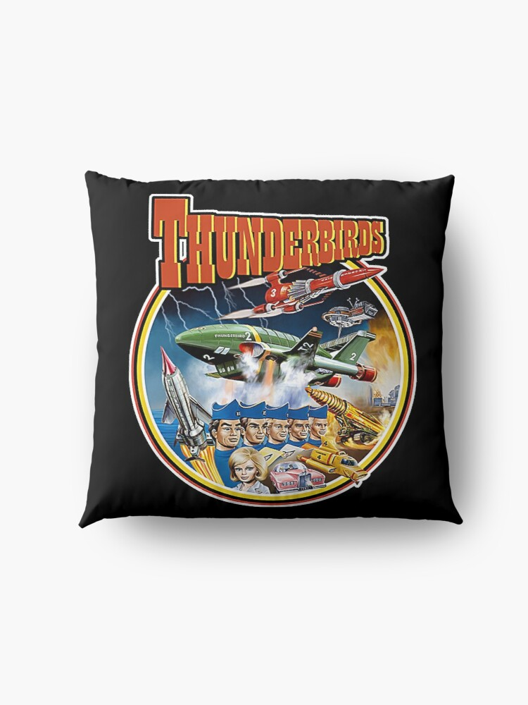 Alternate view of Retro Vintage Thunderbirds T-Shirt Floor Pillow
