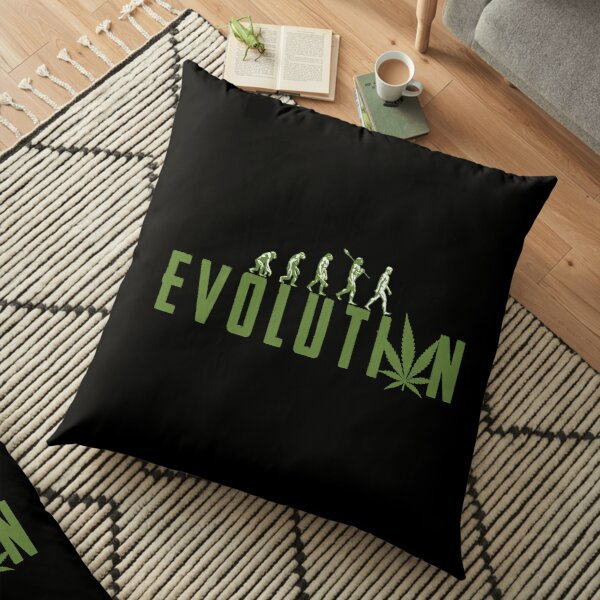Evolution To Bong Cannabis Water Pipe Gift Floor Pillow