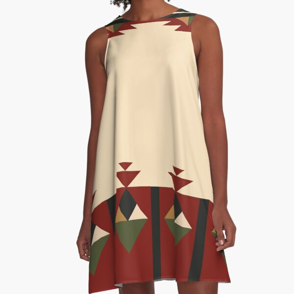 American Native Pattern No. 436 A-Line Dress