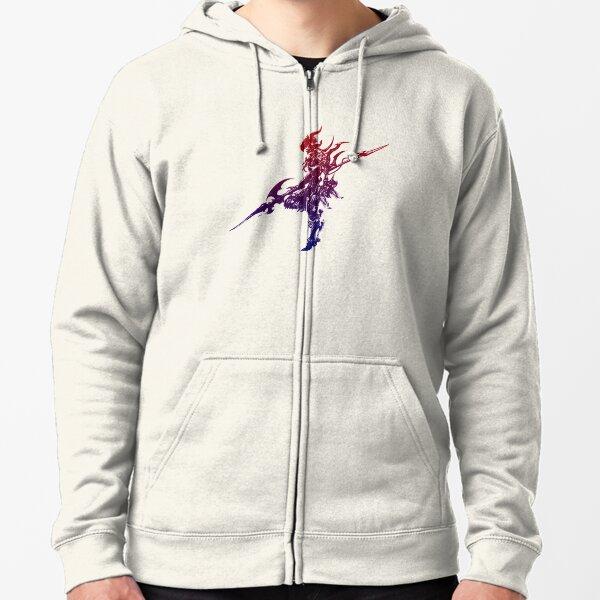 Final Fantasy Main Logo - Dragoon / Lancer Zipped Hoodie