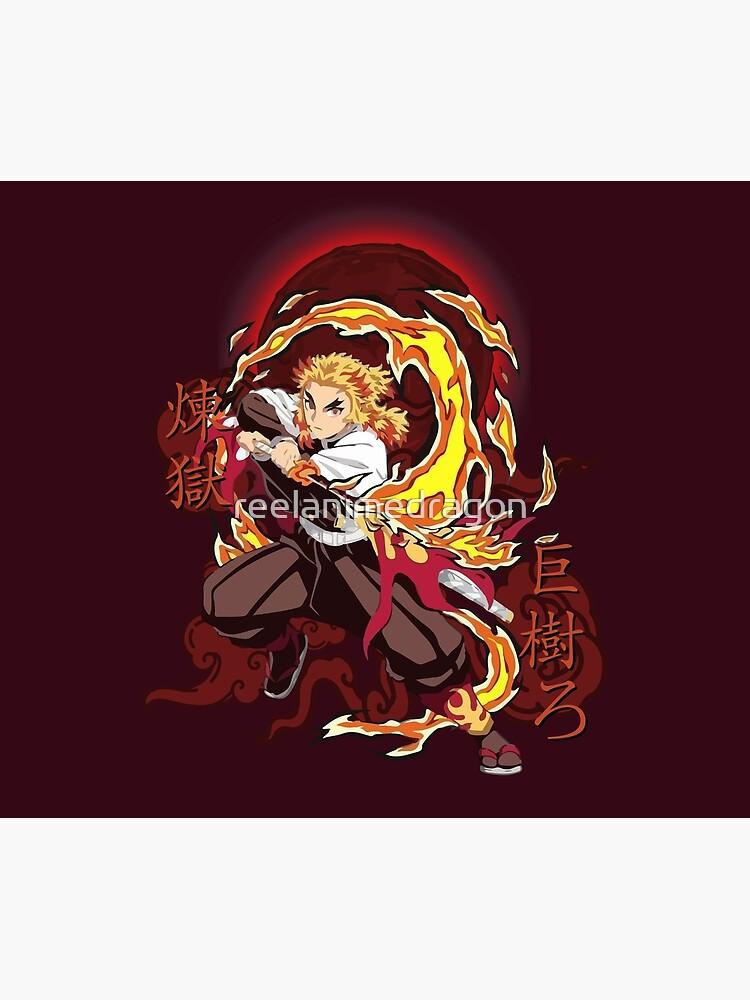 Rengoku Kyojuro Fire - Kimetsu No Yaiba by reelanimedragon