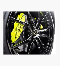 Acid Green Calipers with Gloss Black Wheels? Uhm, Yes! Photographic Print