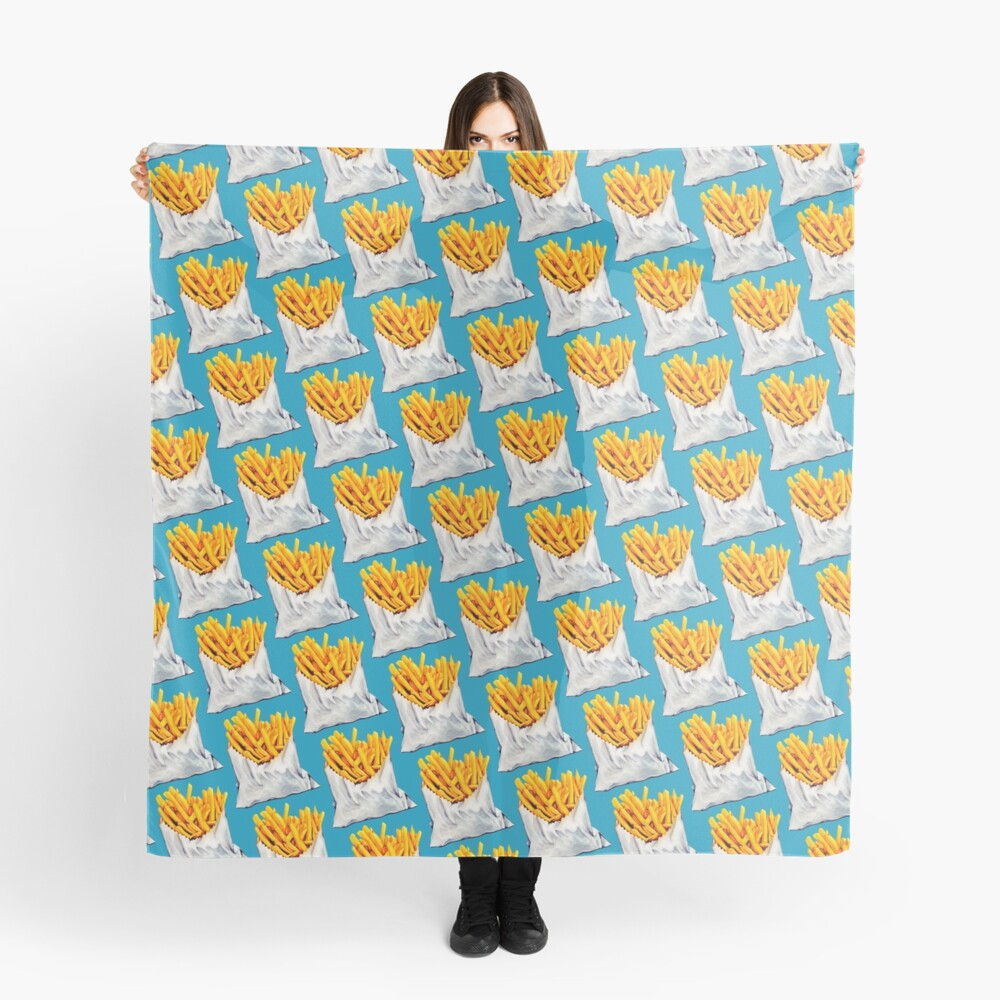 French Fries Pattern Scarf