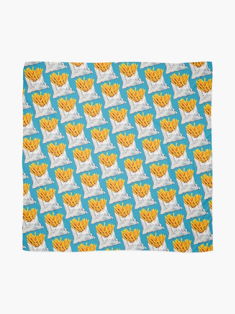 Alternate view of French Fries Pattern Scarf