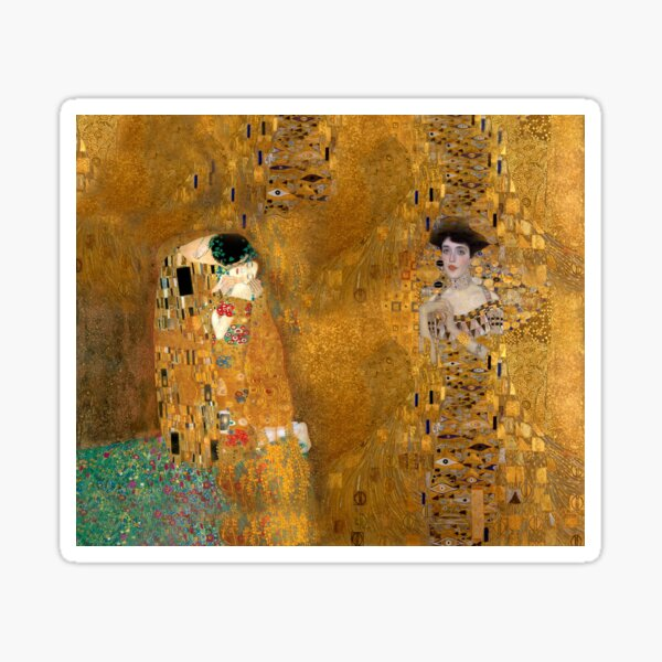 Klimt -  Woman in Gold - The Kiss Sticker