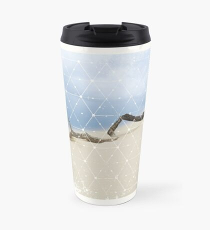 Nature and Geometry - Drift Wood Travel Mug