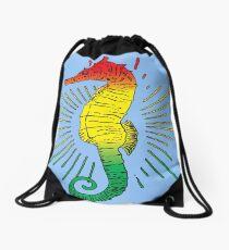 Seepferdchen mit Reggae Music Flag Farben! Rucksackbeutel