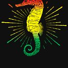 Seahorse with Reggae Music Flag Colors! by Denis Marsili
