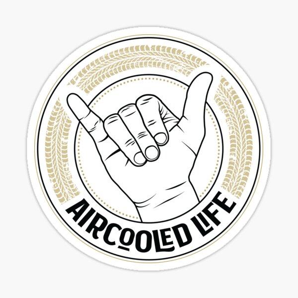 Aircooled Vdub Greeting / wave - Aircooled Life Sticker