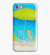 Beach painting - Sunny Day iPhone Case/Skin