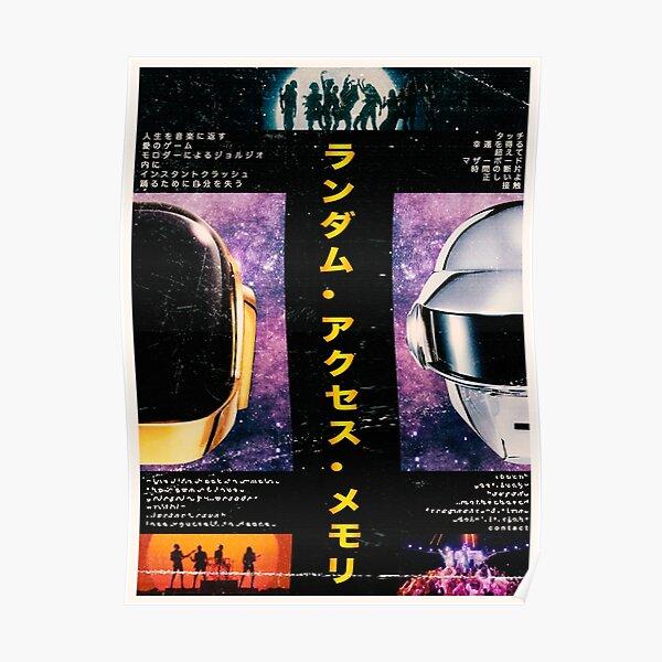 Daft Punk - Estilo tradicional japonés Póster