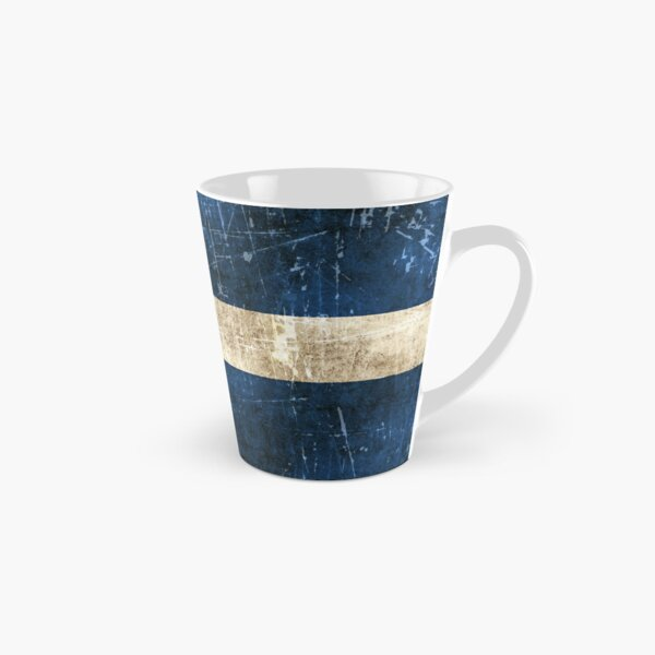 Vintage Aged and Scratched Colorado Flag Tall Mug