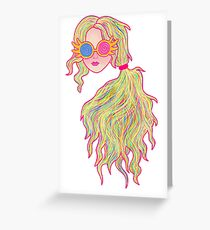 Psychedelic Luna Lovegood Greeting Card
