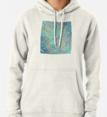 Sudadera con capucha Sapphire & Jade Stained Glass Mandalas